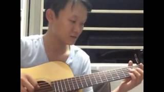 Tình Khúc Vàng guitar solo [Mitxi Tòng]