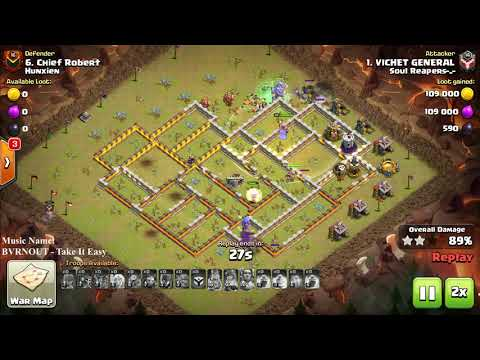 COC 3 star War Attack By BowLer Witch and Healer, How Did they do That, Clash of clans War