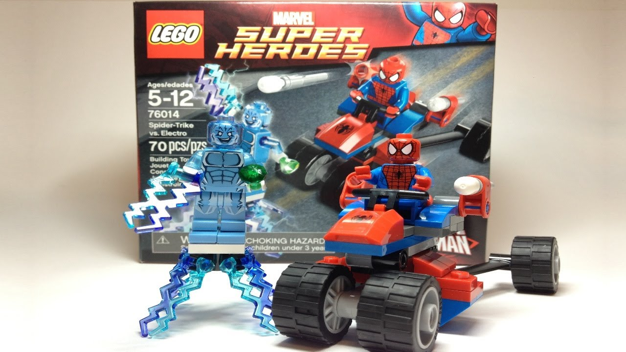 lego marvel super heroes spider man spider trike vs electro review 76014 youtube. Black Bedroom Furniture Sets. Home Design Ideas