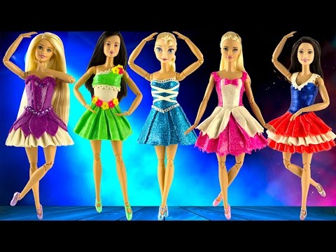 Thumbnail: Play doh disney princess dresses Elsa Rapunzel Mulan Aurora Snow White ballerina play doh videos