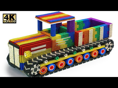 DIY - How To Make Military Transport Tank  From Magnetic Balls (Satisfying) | Magnet World Series