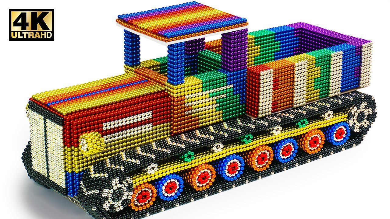 DIY - How To Make Military Transport Tank  From Magnetic Balls (Satisfying)   Magnet World Series