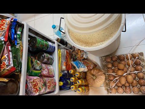 เตรียมเสบียงข้าวสารอาหารแห้ง พร้อมรับสถานการณ์.  StayHome  WithMe