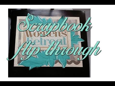 scrapbook  flip through/ part 2 of 2/women's retreat