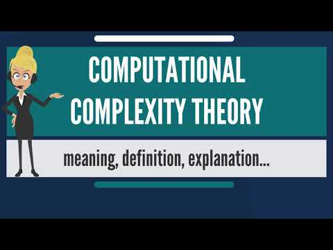 What is COMPUTATIONAL COMPLEXITY THEORY? What does COMPUTATIONAL COMPLEXITY THEORY mean?