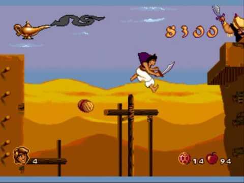 Aladdin (Sega genesis) part 1 levels 1-4 thumbnail