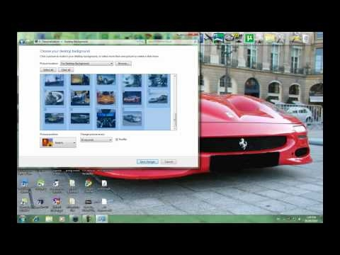 How To Create A Desktop Background Slide Show In Windows 7