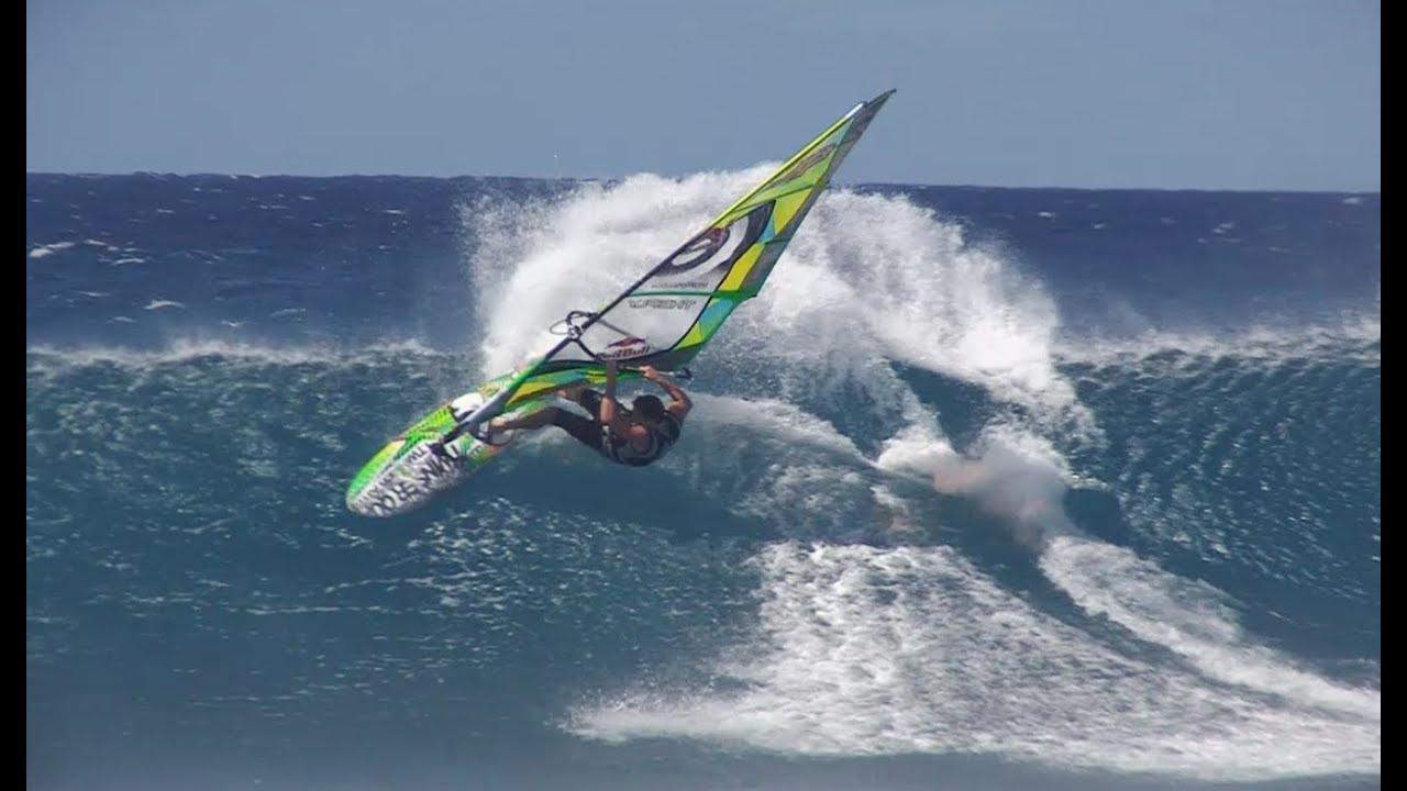 Extreme Windsurfing at Hookipa Beach - Jason Polakow 2013