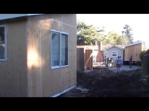 Menlo Park Modular backyard home time lapse