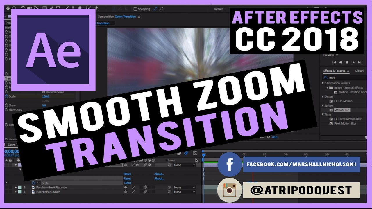 Smooth Zoom Transition After Effects Tutorial