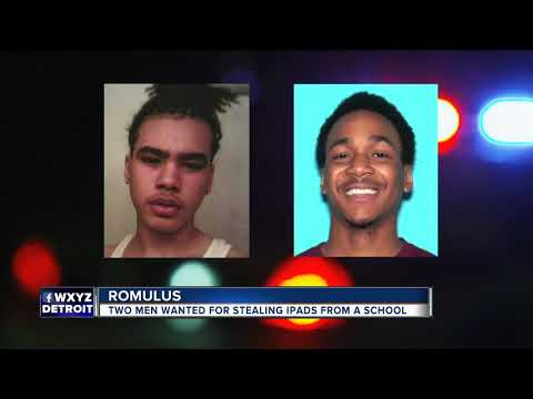 Hooded suspects steal dozens of iPads from Romulus elementary school