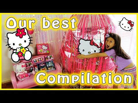 Hello Kitty Giant Surprise Egg Compilation...