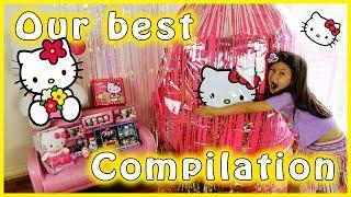 hello kitty giant surprise egg compilation hello kitty toys compilation