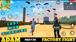 FREE FIRE FACTORY BOOYAH 30 - FF FIST FIGHT ON FACTORY ROOF WITH ADAM - GAME KING - GARENA FREE FIRE