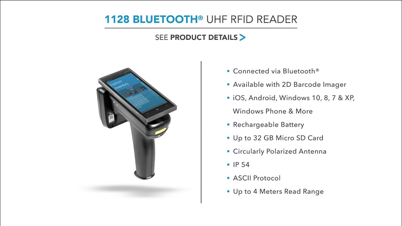 TSL 1128 Bluetooth® UHF RFID Reader - YouTube