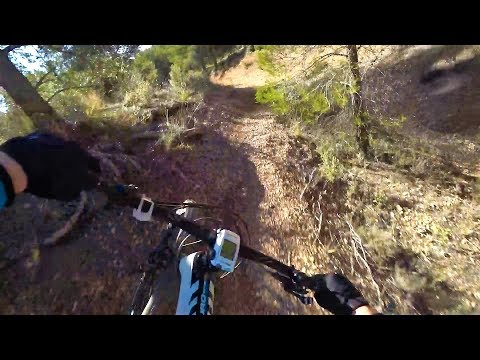 Winter MTB training in Andalucia Spain. Bone dry, abandoned and an awesome mtb spot!