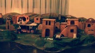 Making Of Traditional Christmas Crib