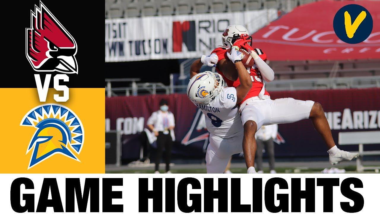 Ball State vs #22 San Jose State Highlights | 2020 Arizona Highlights| College Football Highlights