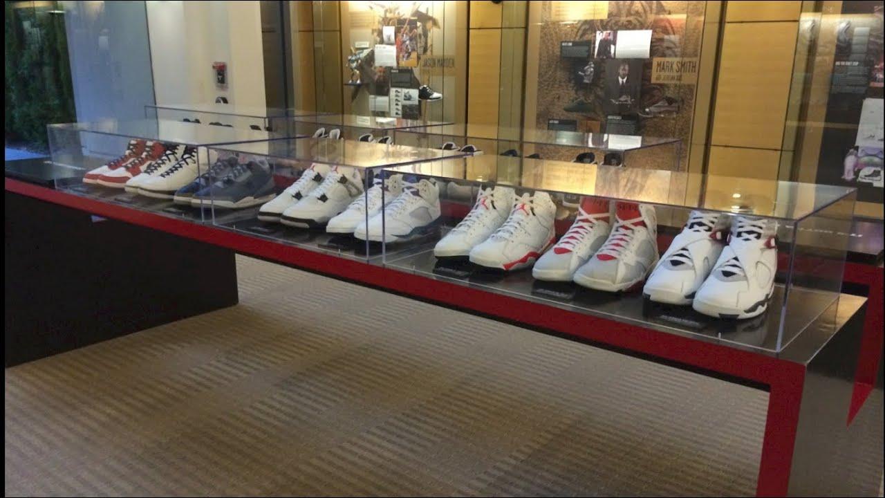 Jordan Brand Headquarters Lobby 2013: Nike BBall Designers Showcased! -  YouTube
