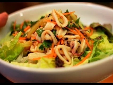 Best CALAMARI SALAD recipe (Squid!) - YouTube