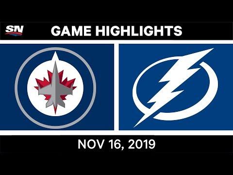 NHL Highlights | Jets Vs Lightning - Nov. 16, 2019