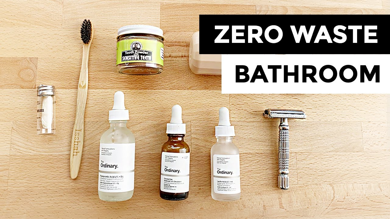 ZERO WASTE Bathroom Essentials - YouTube