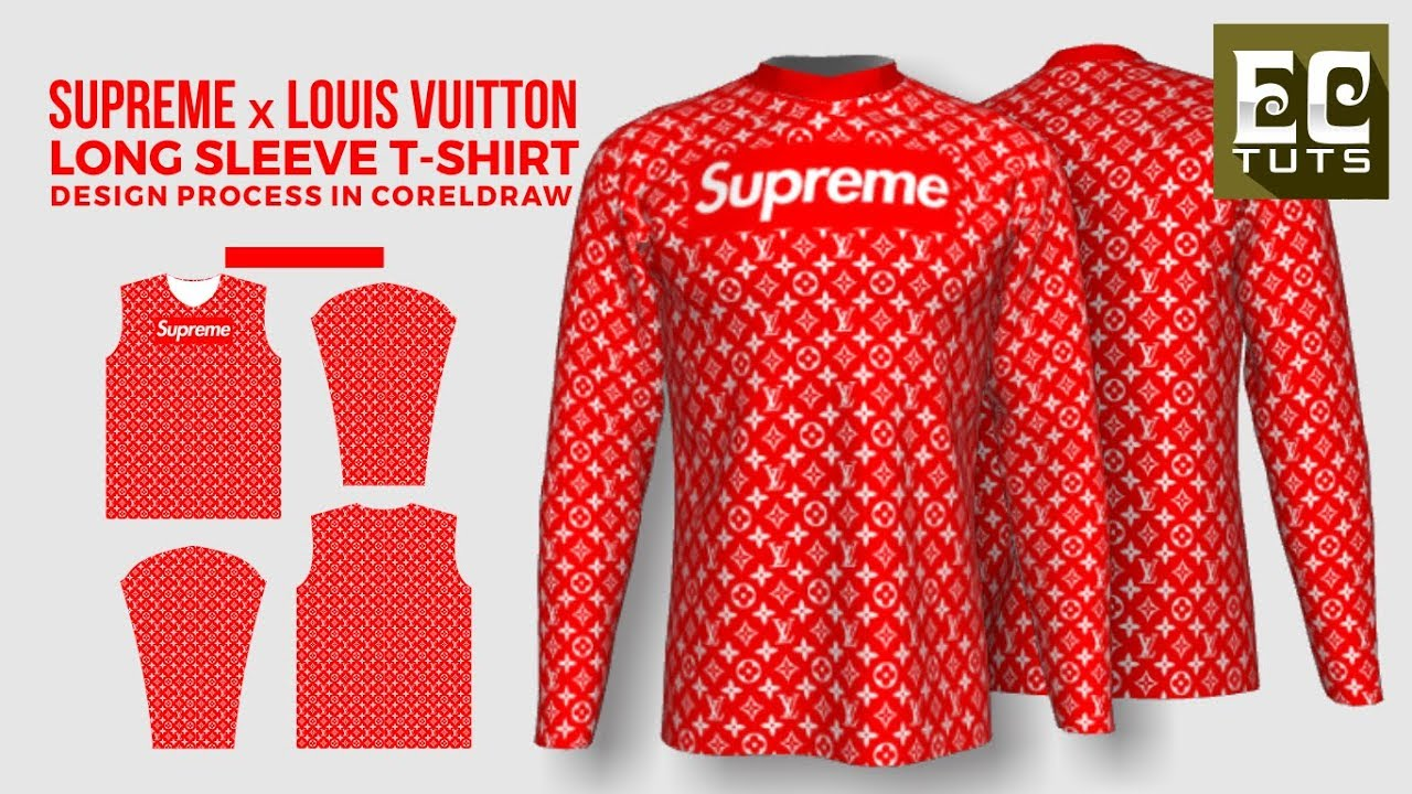 Exclusive Supreme X Lv Long Sleeve T Shirt Design Process In