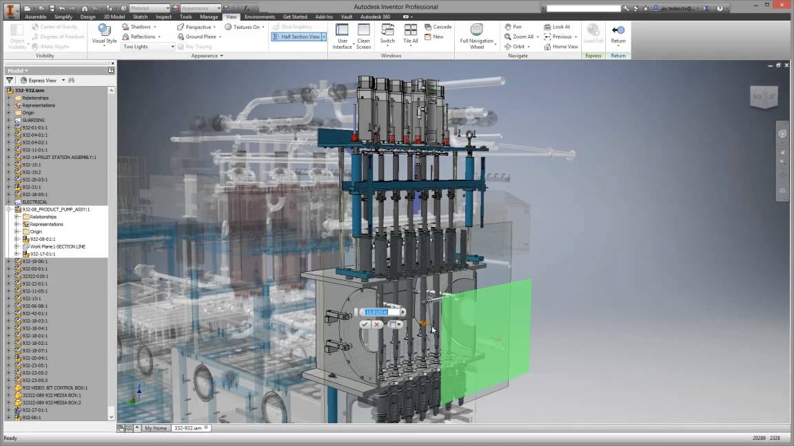 Autodesk Inventor 2015 - Large assembly design - YouTube