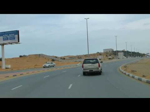 Ras-al-Khaimah driving, Marjan Island to Downtown
