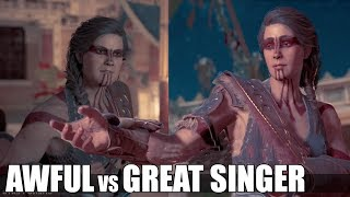 Kassandra The Great Singer VS Being Awful (All Song Choices) - Assassin's Creed Odyssey