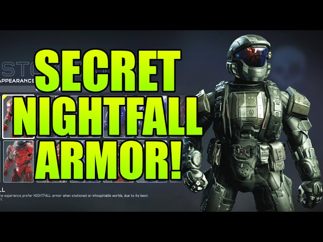 Halo 5 Guardians Secret Nightfall Armor Super Rare How To Unlock Nightfall Armor Youtube