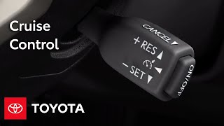 Toyota How-To: Cruise Control | Toyota