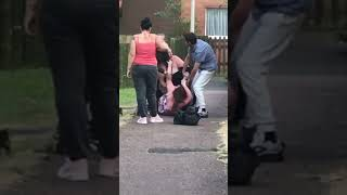 Topless girl fight