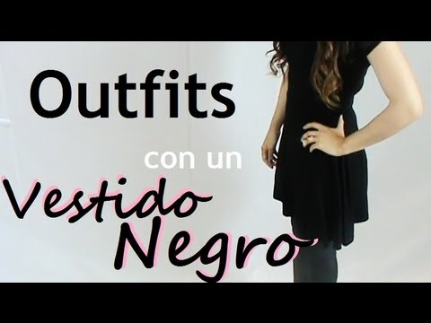 Oufit vestido negro casual