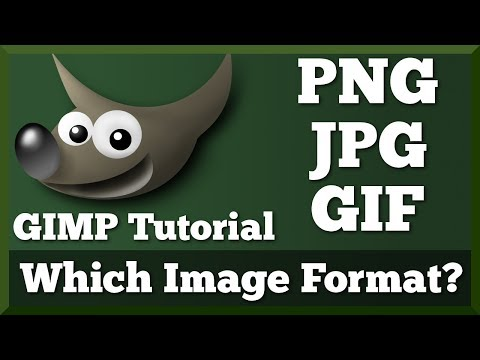 Which Image Format Should You Use? - PNG, JPEG, GIF | GIMP Tutorial