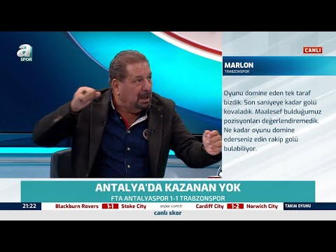 Erman Toroğlu'ndan Trabzonspor'un Puan Kaybına Flaş Yorumlar / Antalyaspor-Trabzonspor Maç Sonu