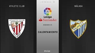 Calentamiento Athletic Club vs Málaga