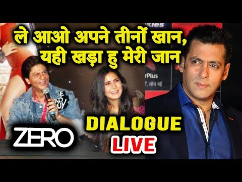 Shahrukh Khan's LIVE DIALOGUE From ZERO Has Salman Khan Connection | ZERO Trailer Launch