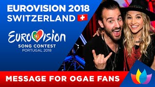 Eurovision 2018 Switzerland   Message from ZiBBZ to OGAE Ukraine