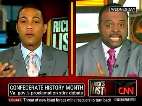 CNN's Don Lemon revisits Roland Martin's Confederate history proclamation comments, 04.08.10