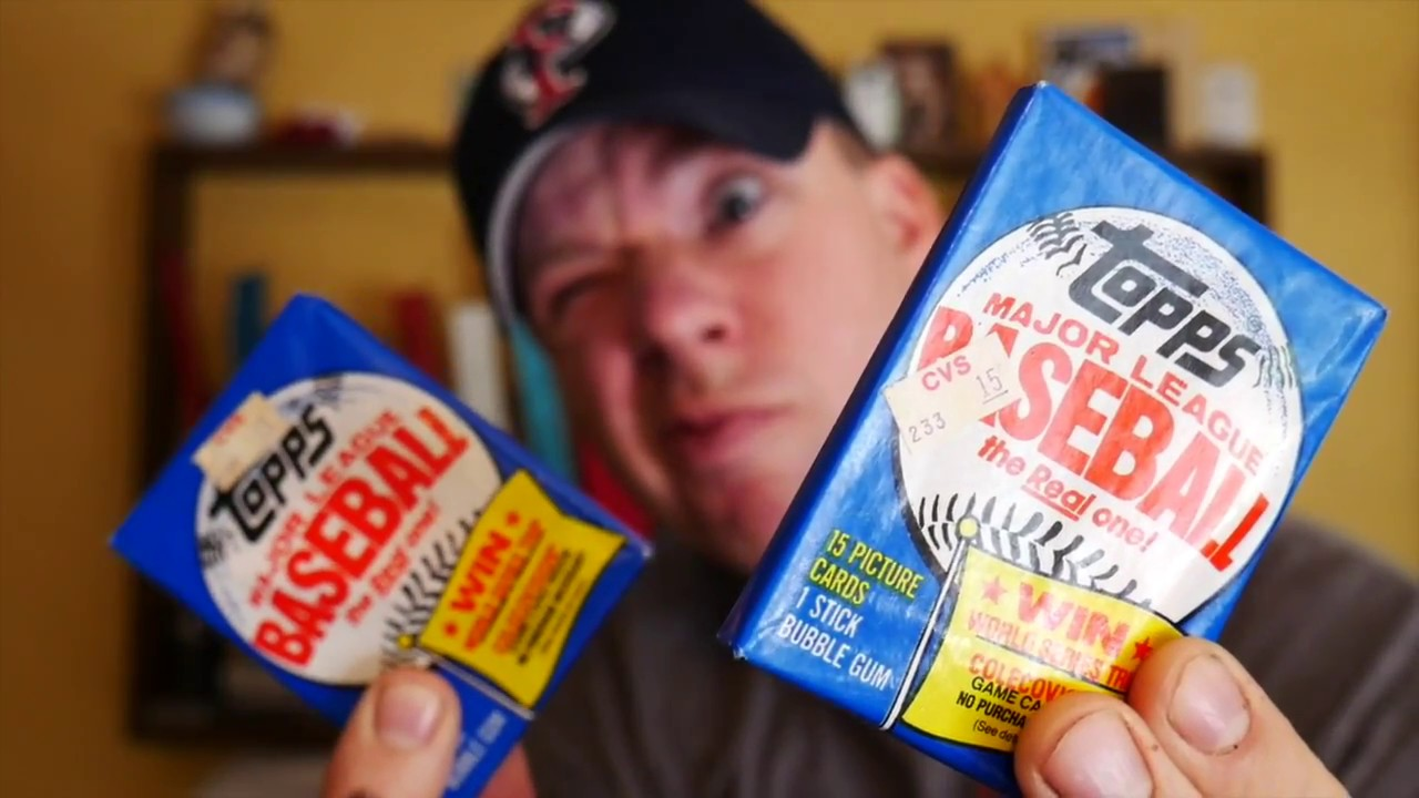 Chewing 34 Year Old 1983 Topps Baseball Card Gum Opening 2 Wax Packs