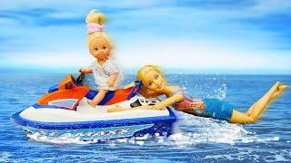 Штеффи и лодка на пляже — Куда смотрела БАРБИ?!  Истории про Барби куклы для девочек