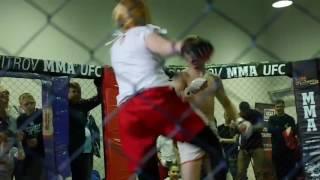 Girl beats a guy in MMA fight!