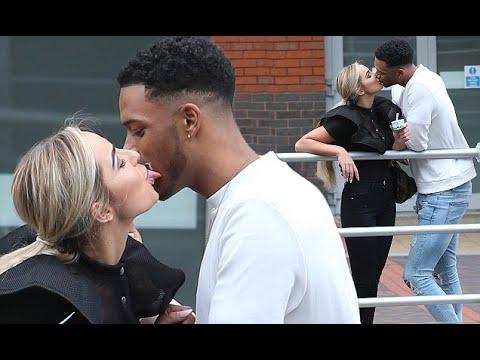 Love Island's Theo Campbell kisses Georgia Cole on cinema date