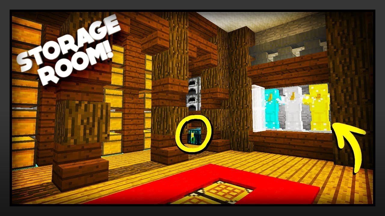 Minecraft How To Make A Storage Room Youtube