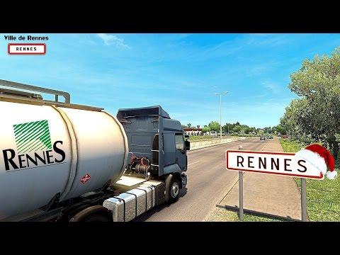 Euro Truck Simulator 2 Vive la France ! Direction Rennes Ille-et-Vilaine (35)