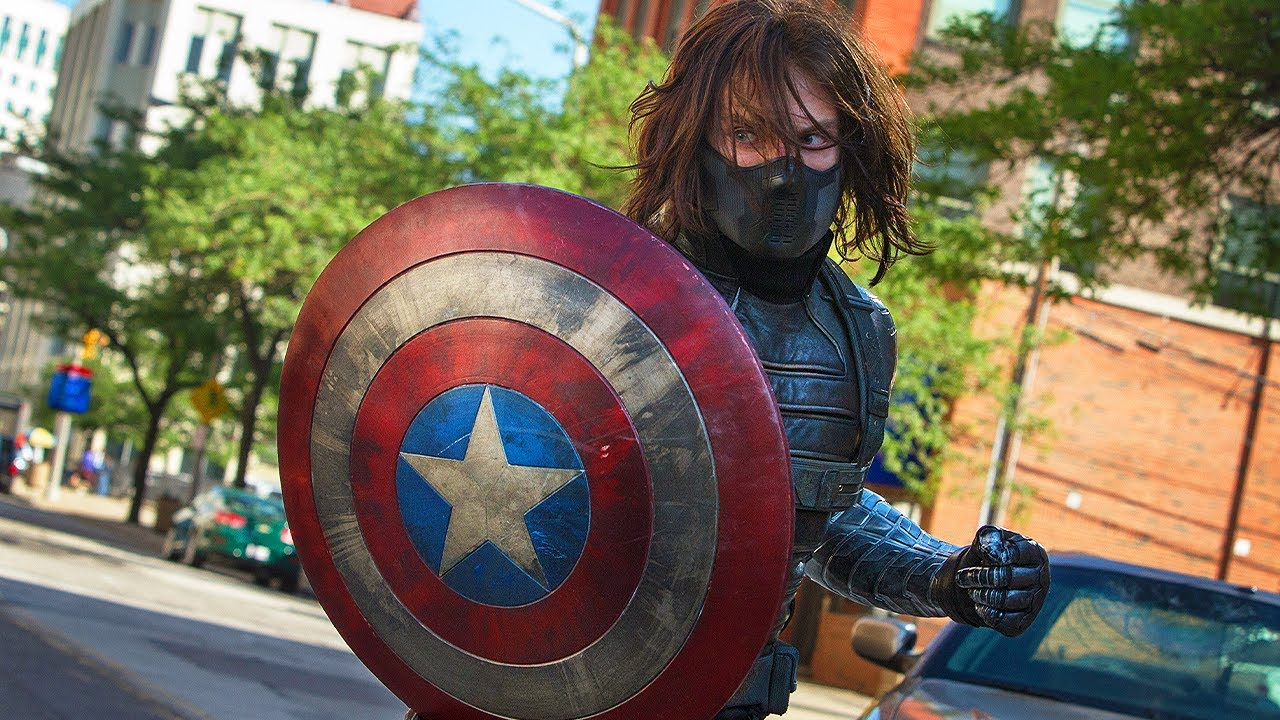 Captain America vs The Winter Soldier - Highway Fight Scene - Captain America: The Winter Soldier