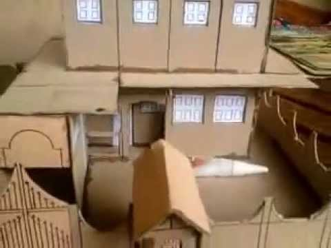 construction d 39 une maquette en carton youtube. Black Bedroom Furniture Sets. Home Design Ideas