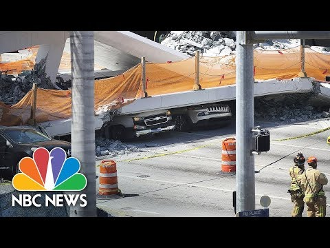 Watch Live: Bridge collapses at Florida International University near Miami