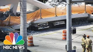 Bridge Collapses At Florida International University Near Miami | NBC News